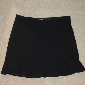 Loft XL black ruffle skirt